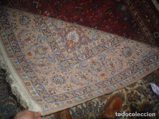 Antigüedades: precioso alfombra ispahan persa seda y lana - Foto 2 - 143982446