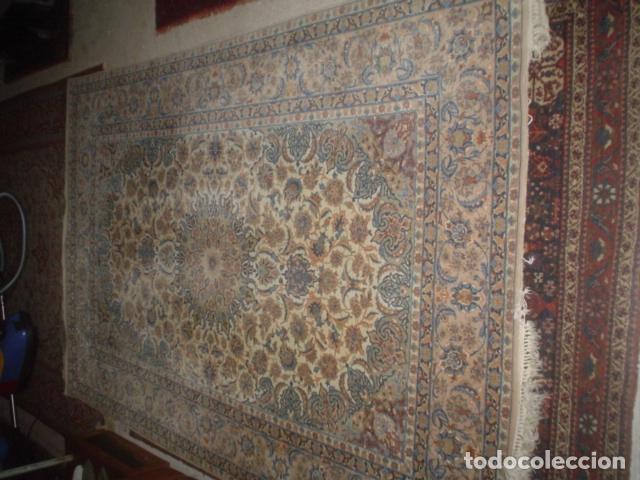Antigüedades: precioso alfombra ispahan persa seda y lana - Foto 4 - 143982446