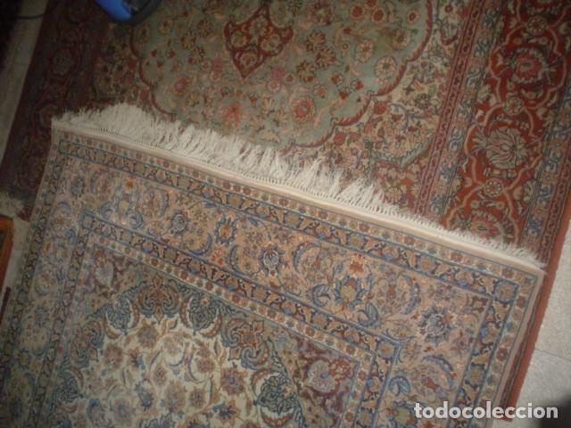 Antigüedades: precioso alfombra ispahan persa seda y lana - Foto 6 - 143982446