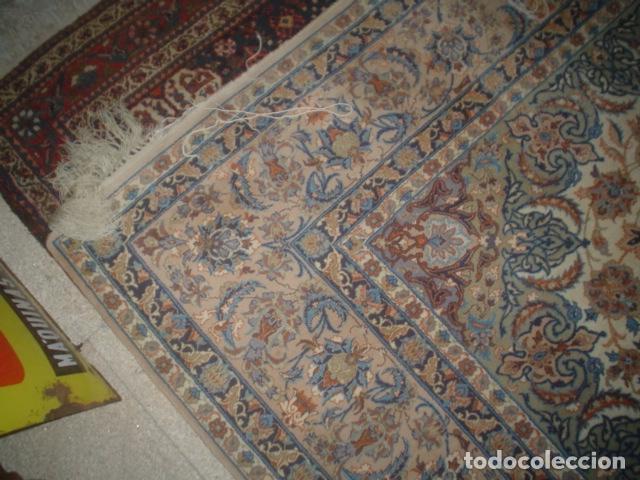 Antigüedades: precioso alfombra ispahan persa seda y lana - Foto 8 - 143982446
