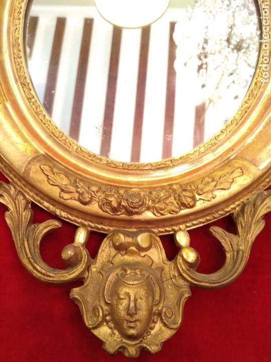 Antigüedades: Espejo con marco dorado siglo XIX - Foto 3 - 143979781