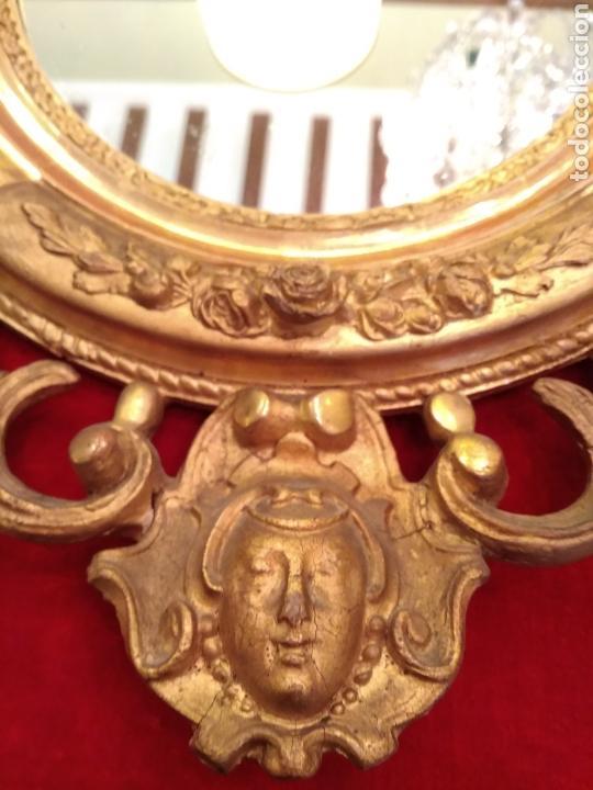 Antigüedades: Espejo con marco dorado siglo XIX - Foto 5 - 143979781