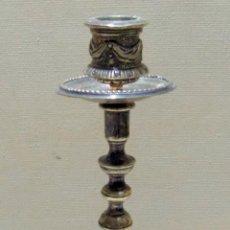 Antigüedades: ANTIGUO CANDELERO, METAL PLATEADO,O BRONCE BAÑADO BONITO . W. Lote 144007878