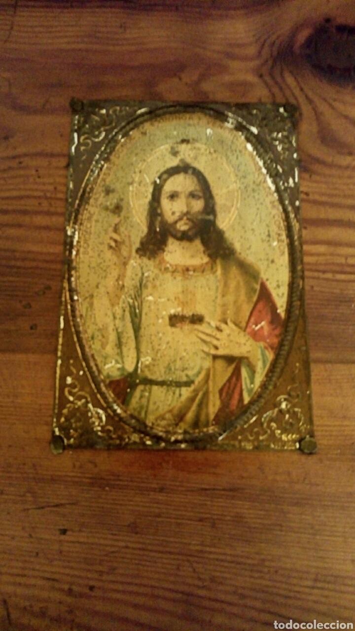 Antigüedades: Limosnera. Petitoria de sacristia. Madera de roble. Siglo XIX - Foto 6 - 144016082