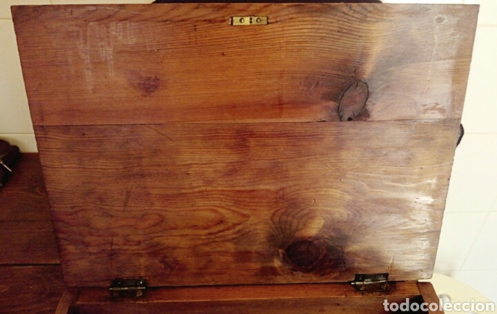 Antigüedades: Limosnera. Petitoria de sacristia. Madera de roble. Siglo XIX - Foto 9 - 144016082