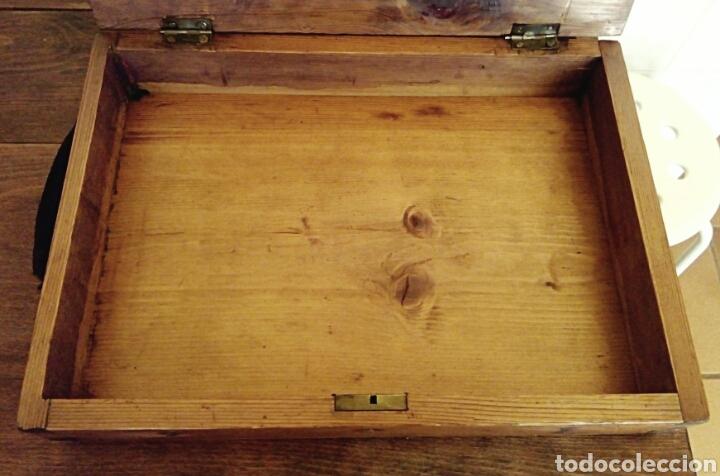 Antigüedades: Limosnera. Petitoria de sacristia. Madera de roble. Siglo XIX - Foto 10 - 144016082