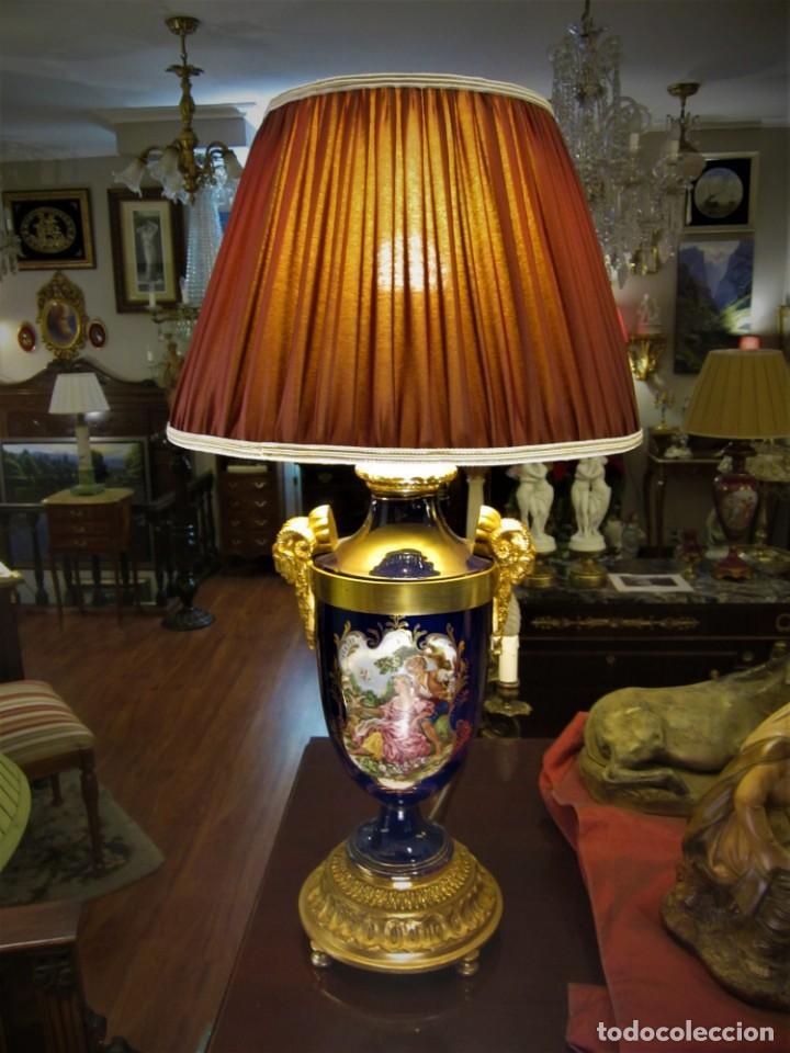 SOBERBIA PAREJA DE LAMPARAS (Antigüedades - Iluminación - Lámparas Antiguas)