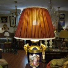 Antigüedades: SOBERBIA PAREJA DE LAMPARAS. Lote 144027382