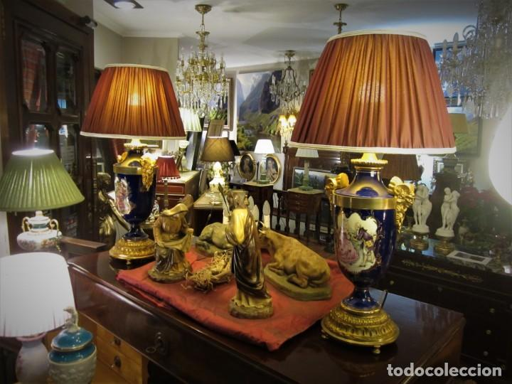 Antigüedades: SOBERBIA PAREJA DE LAMPARAS - Foto 3 - 144027382