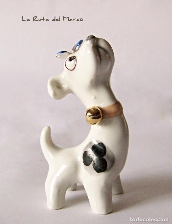 Antigüedades: Perro - Figura de porcelana - Sellada - Foto 3 - 144040046