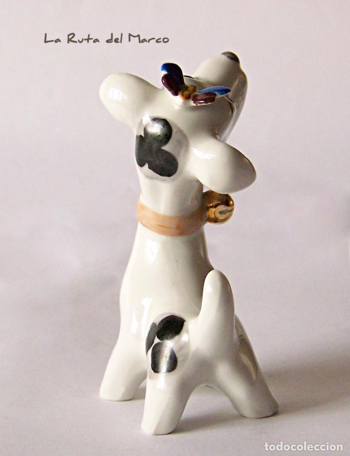 Antigüedades: Perro - Figura de porcelana - Sellada - Foto 4 - 144040046