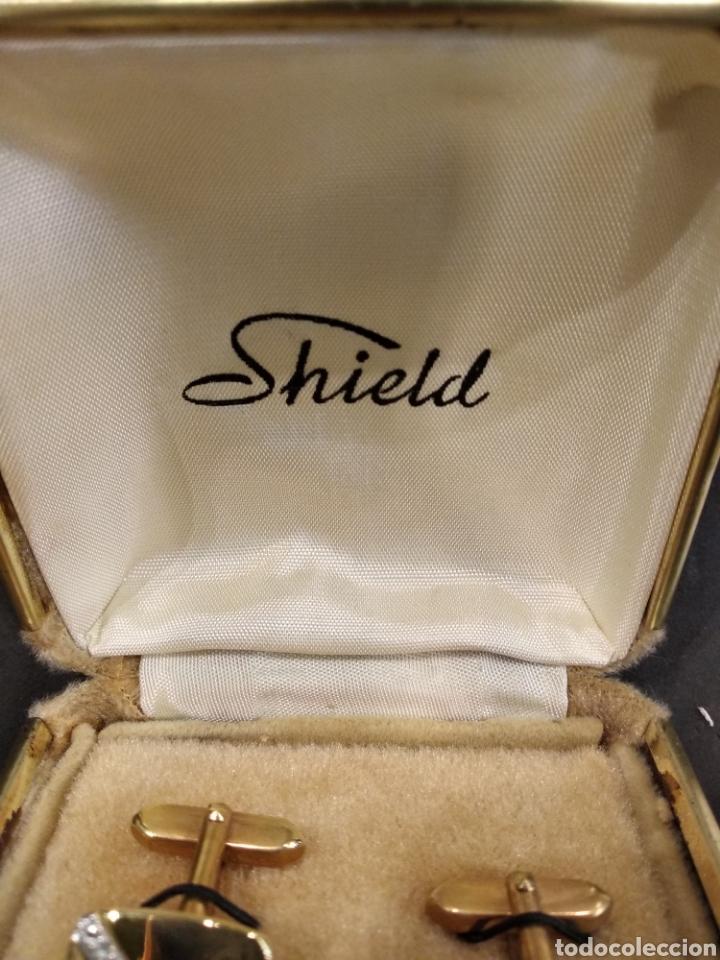 Antigüedades: Gemelos con plaque de oro - Foto 3 - 144040878