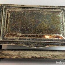 Antigüedades: CAJITA DE PLATA, SIN FONDO, CON CONTRASTE ESTRELLA, 925 MILÉSIMAS, 120 GRAMOS. Lote 144045518