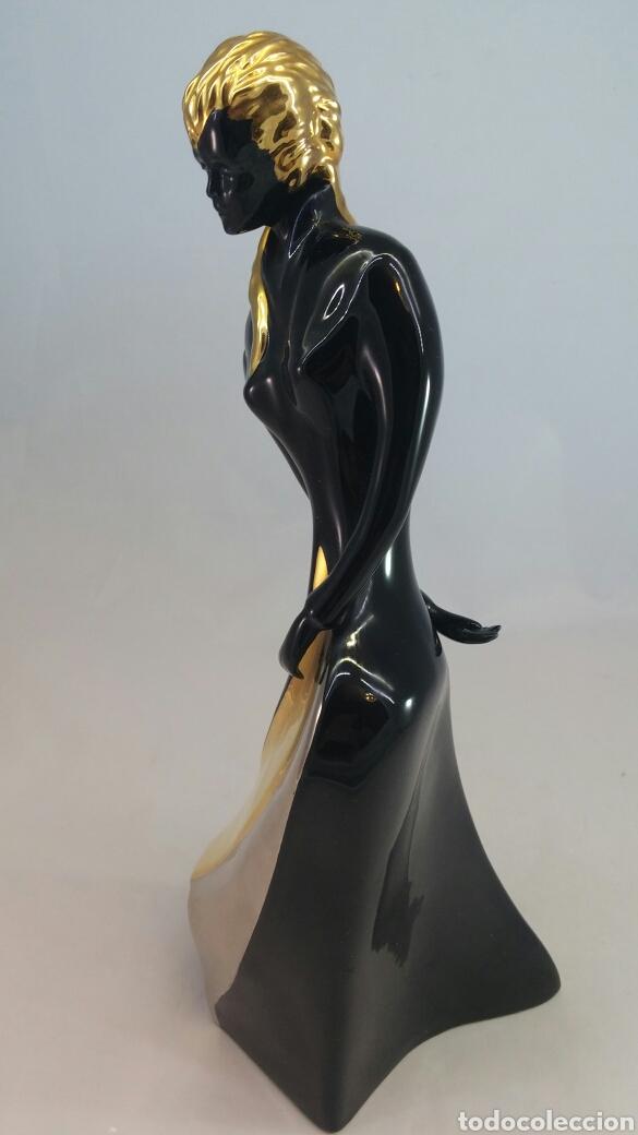 Antigüedades: Escultura mujer porcelana Galos - Foto 4 - 144056516