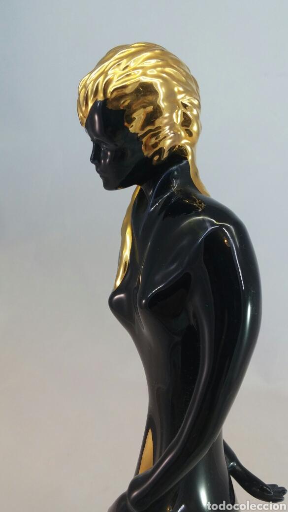 Antigüedades: Escultura mujer porcelana Galos - Foto 8 - 144056516