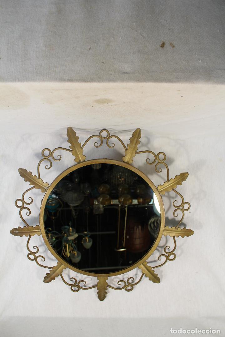 ESPEJO DE SOL EN HIERRO DE FORJA (Antigüedades - Muebles Antiguos - Espejos Antiguos)