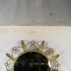 Antigüedades: ESPEJO DE SOL EN HIERRO DE FORJA. Lote 144071070