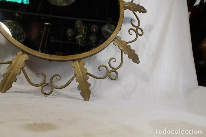 Antigüedades: espejo de sol en hierro de forja - Foto 4 - 144071070