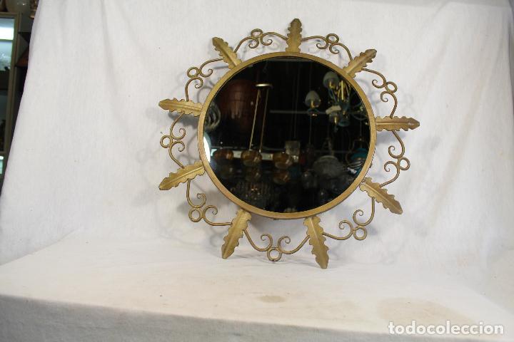 Antigüedades: espejo de sol en hierro de forja - Foto 5 - 144071070