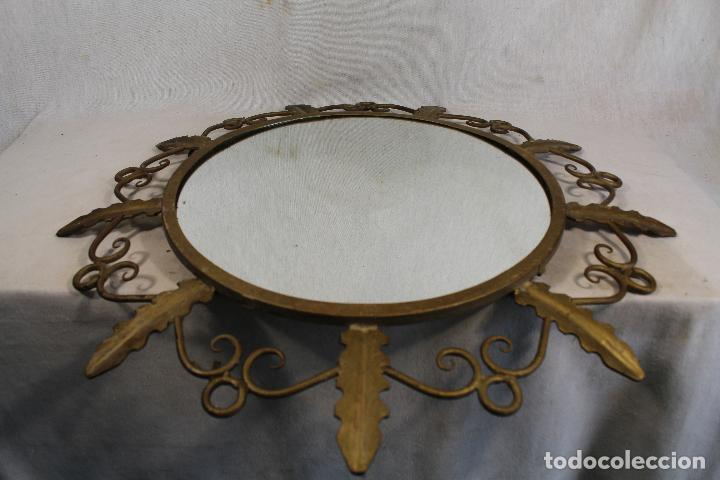 Antigüedades: espejo de sol en hierro de forja - Foto 6 - 144071070