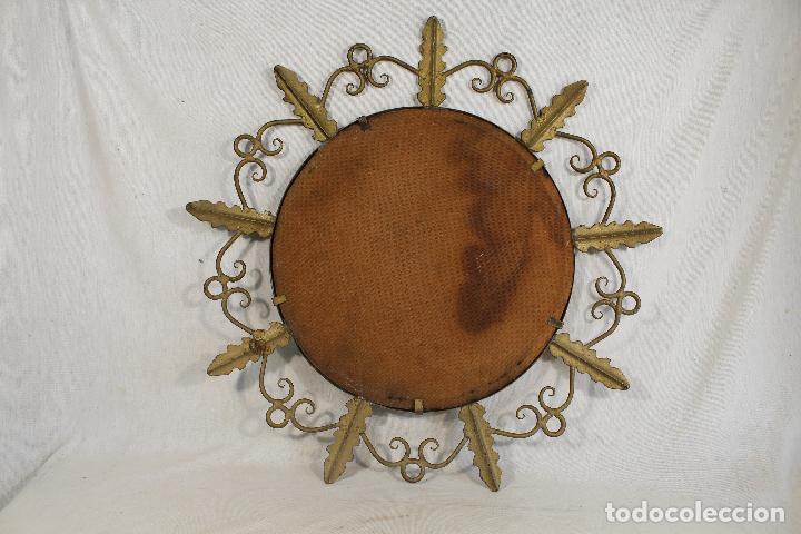 Antigüedades: espejo de sol en hierro de forja - Foto 7 - 144071070