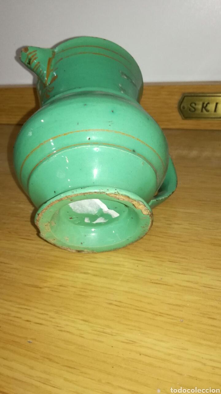 Antigüedades: Jarra verde antigua de pico - Foto 4 - 144118130