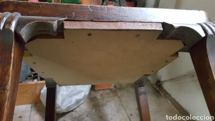 Antigüedades: Juego de seis sillas con patas de garras, para restaurar. - Foto 7 - 52032753