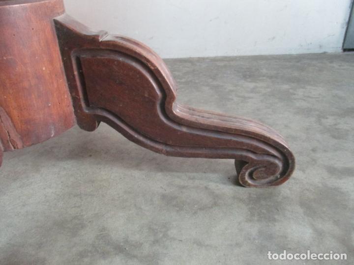 Antigüedades: Antigua Mesa de Comedor Extensible - Isabelino - Madera de Nogal - S. XIX - Foto 8 - 178682981