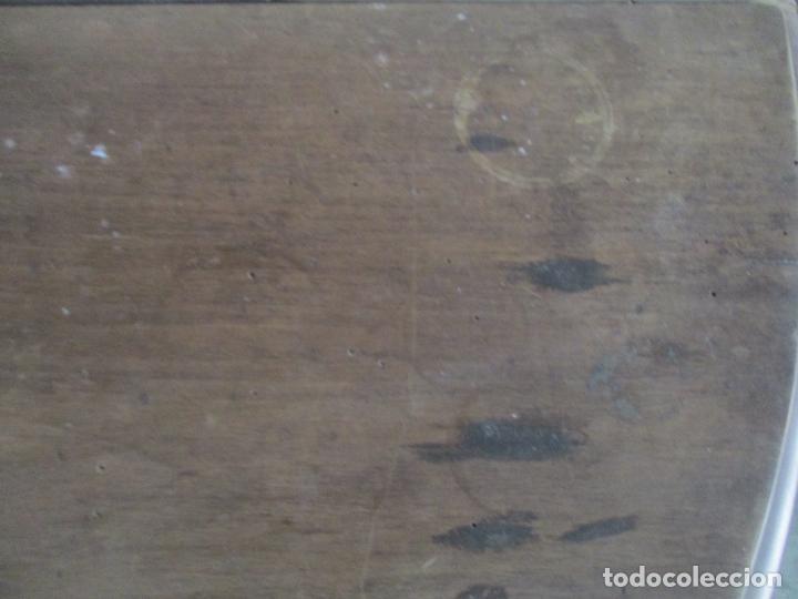 Antigüedades: Antigua Mesa de Comedor Extensible - Isabelino - Madera de Nogal - S. XIX - Foto 12 - 178682981
