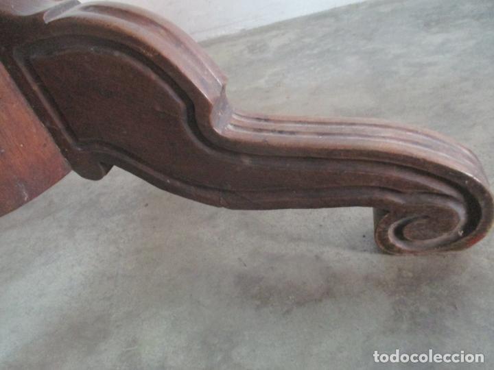 Antigüedades: Antigua Mesa de Comedor Extensible - Isabelino - Madera de Nogal - S. XIX - Foto 15 - 178682981