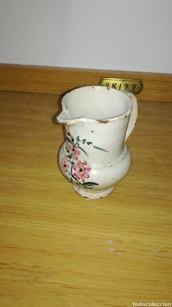 JARRA DE PICO ANTIGUA ORIGINAL CON FLORES (Antigüedades - Porcelanas y Cerámicas - Otras)
