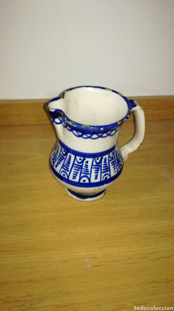 JARRA CERÁMICA DE MANISES AZUL (Antigüedades - Porcelanas y Cerámicas - Manises)