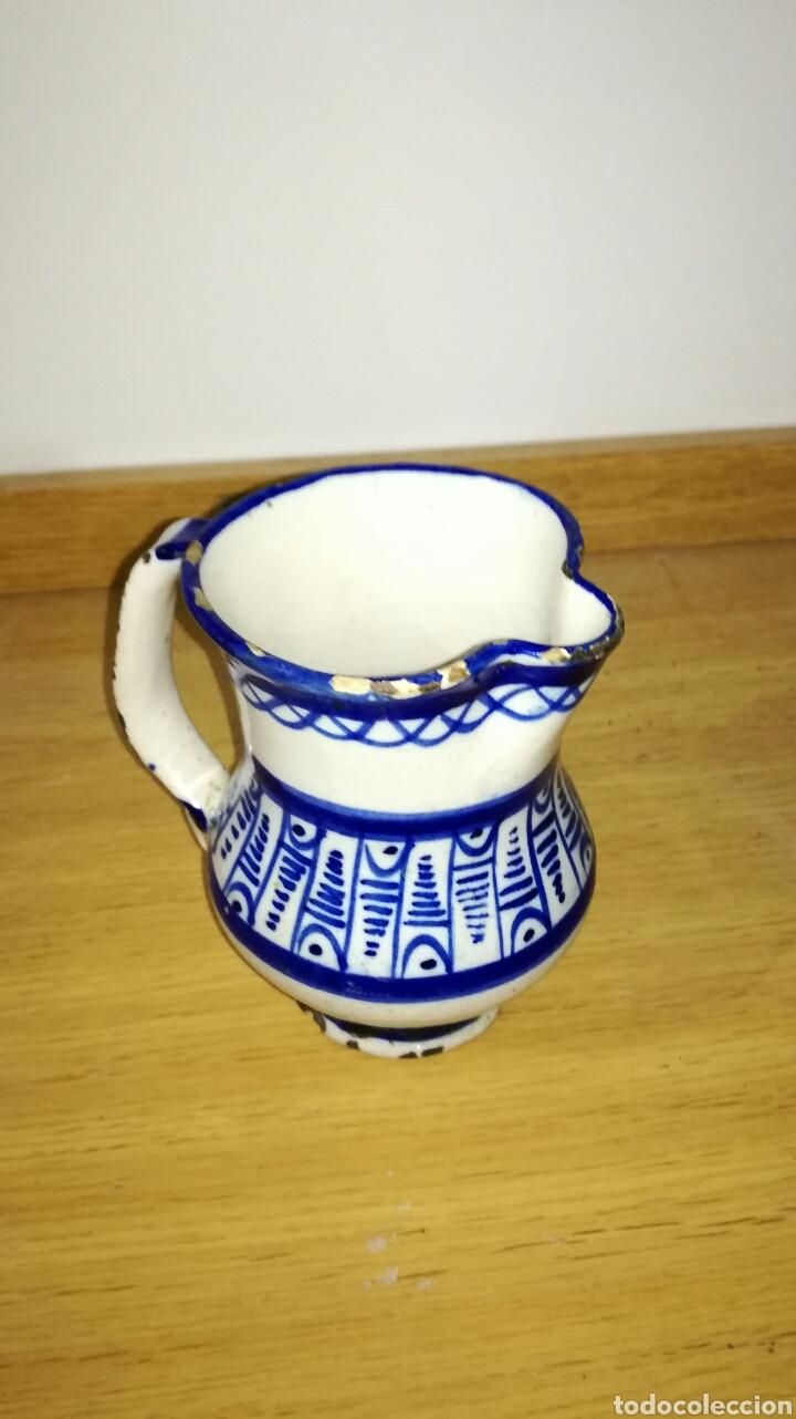 Antigüedades: Jarra cerámica de manises azul - Foto 2 - 144126240