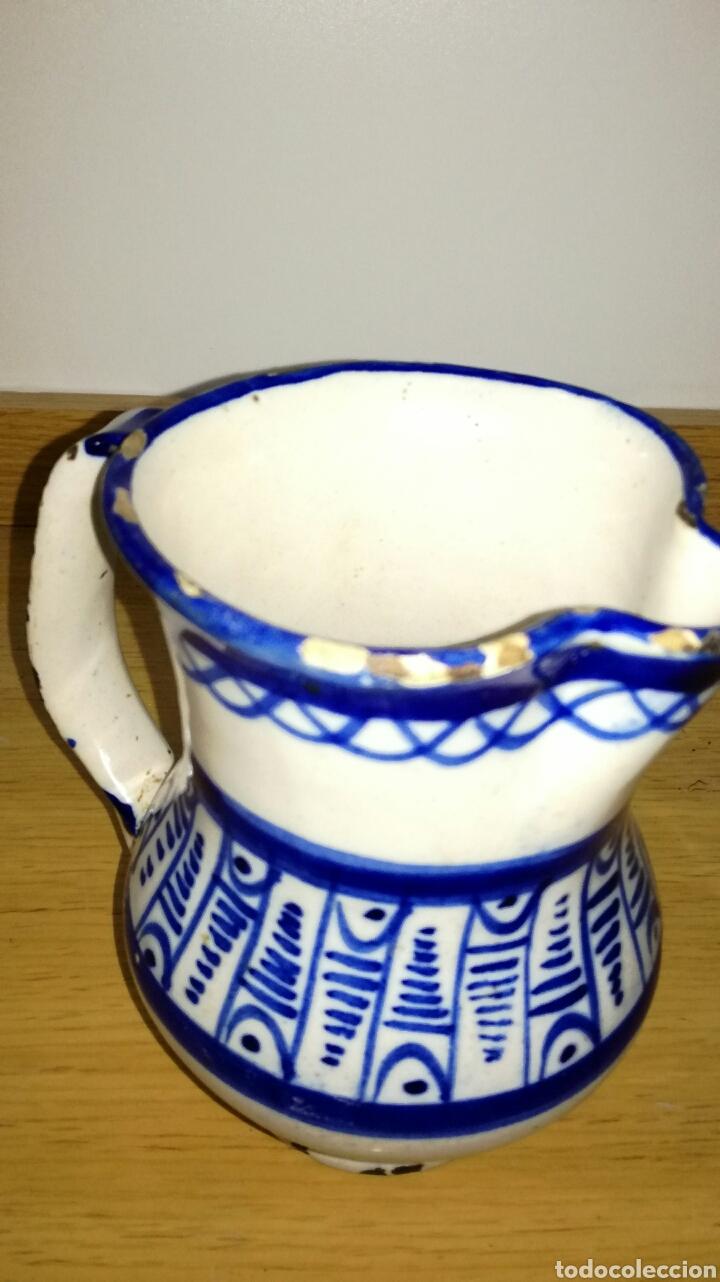 Antigüedades: Jarra cerámica de manises azul - Foto 3 - 144126240