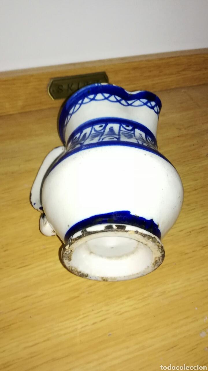 Antigüedades: Jarra cerámica de manises azul - Foto 5 - 144126240