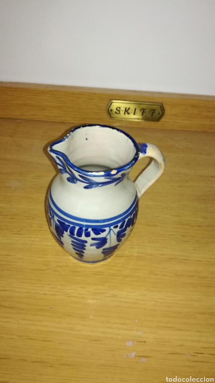 JARRA ANTIGUA ORIGINAL AZUL (Antigüedades - Porcelanas y Cerámicas - Manises)