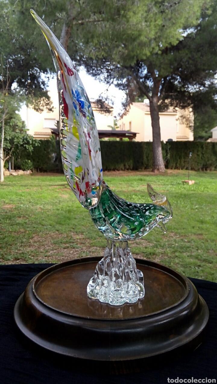 GALLO DE CRISTAL DE MURANO. VINTAGE. AÑOS 1950. (Antigüedades - Cristal y Vidrio - Murano)