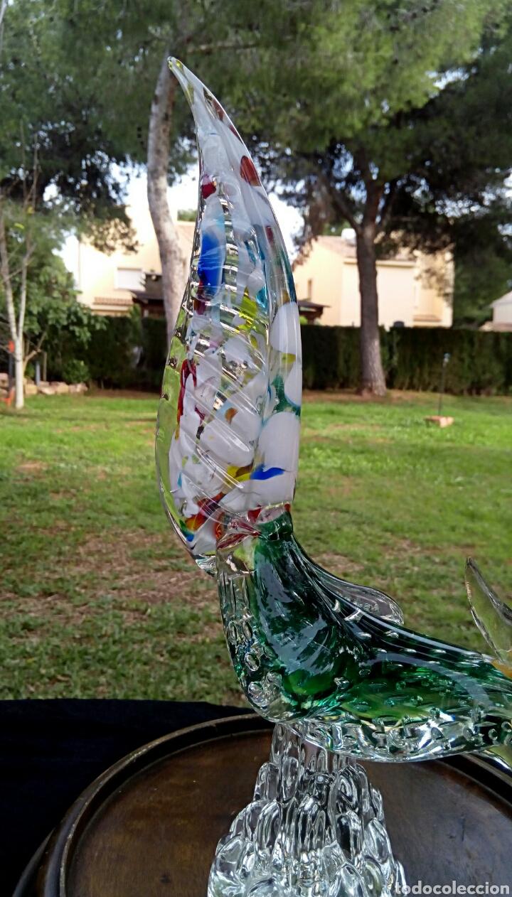 Antigüedades: Gallo de cristal de Murano. Vintage. Años 1950. - Foto 2 - 144129966