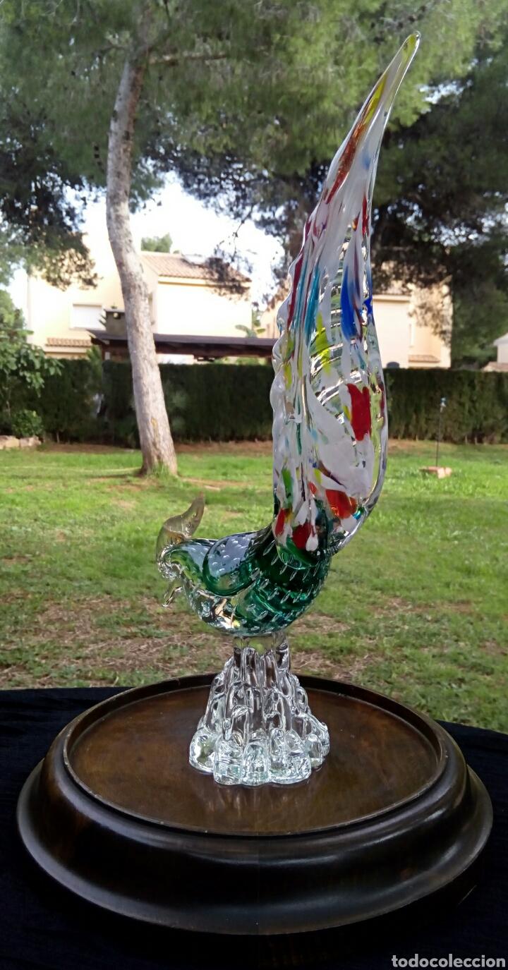 Antigüedades: Gallo de cristal de Murano. Vintage. Años 1950. - Foto 3 - 144129966
