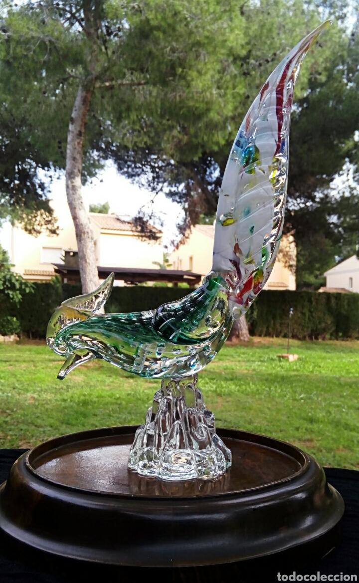 Antigüedades: Gallo de cristal de Murano. Vintage. Años 1950. - Foto 4 - 144129966