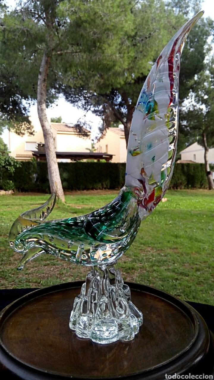 Antigüedades: Gallo de cristal de Murano. Vintage. Años 1950. - Foto 5 - 144129966