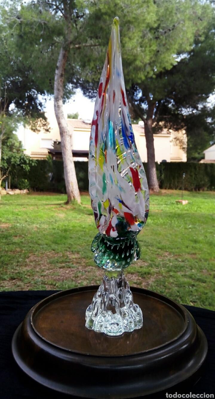 Antigüedades: Gallo de cristal de Murano. Vintage. Años 1950. - Foto 6 - 144129966