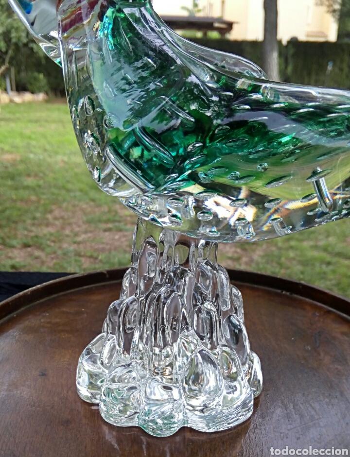 Antigüedades: Gallo de cristal de Murano. Vintage. Años 1950. - Foto 8 - 144129966