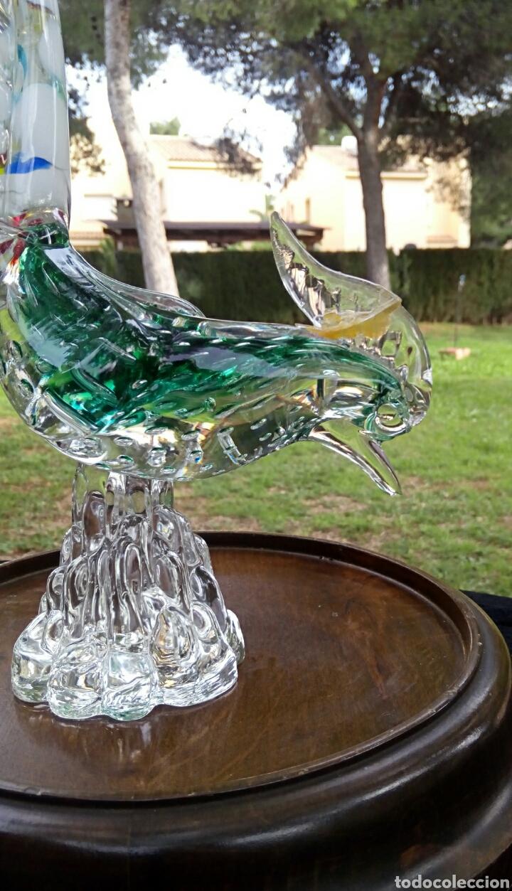 Antigüedades: Gallo de cristal de Murano. Vintage. Años 1950. - Foto 9 - 144129966