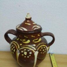 Antigüedades: OLLA DE BARRO VIDRIADA. Lote 144132950