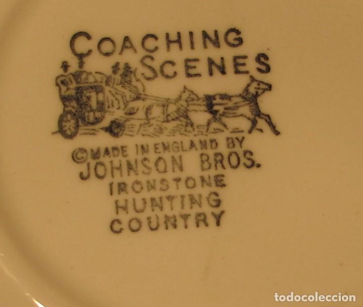 Antigüedades: JOHNSON BROS IRONSTONE HUNTRNG COUNTRY PORCELANA INGLESA COACHING SCENES - Foto 3 - 144134074