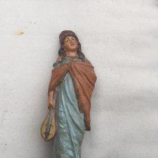 Antigüedades: FIGURA BARRO POLICROMADO. TERRACOTA.. Lote 144184882