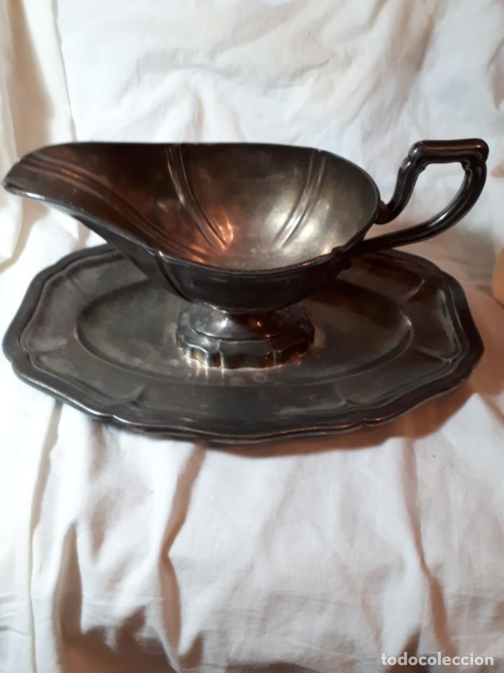 PRECIOSA SALSERA (Antigüedades - Platería - Bañado en Plata Antiguo)