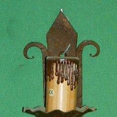 Antigüedades: APLIQUES DE PARED HIERRO PAREJA MED 45 CTM. Lote 144208658