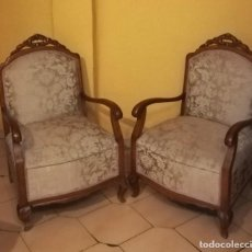 Antigüedades: PAREJA DE BUTACAS, SILLONES, DESCALZADORAS.. Lote 144213466